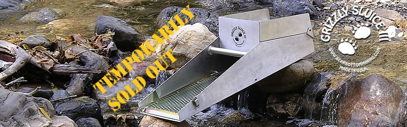 The Grizzly Sluice III gold mining sluice box